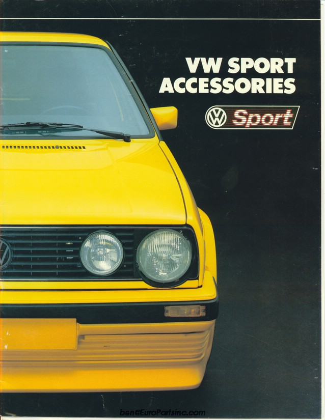 VW Sport Accessories Catalog